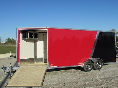 7X23 Rc Enclosed Snowmobile Trailer W/ Extra Height *big Winter Sale@dr Trailer