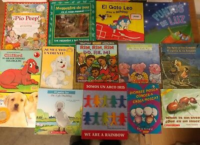 Lot of 30 Spanish Espanol Learn to Read Children Kids Picture ESL Book MIX #G21