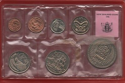 NEW ZEALAND - 1975 Souvenir Coin Set issued by the NZ Treasury