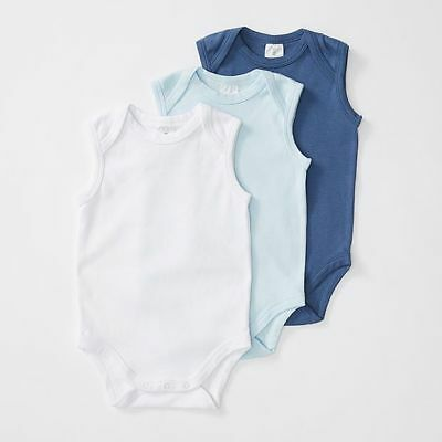 NEW essentials Baby 3 Pack Sleeveless Bodysuits