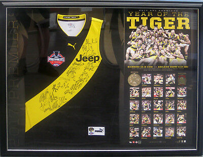 2017 Richmond Tigers Signed & Framed Premiers Jumper - Official Limited Edition
