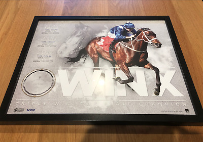 Winx limited edition sporting memorabilia. Unwanted prize. Sandringham VIC.
