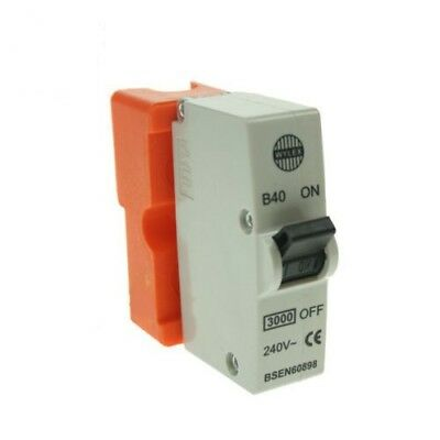 Wylex Plug In MCB 40 Amp B40 Fuse Circuit Breaker With Base-NEW