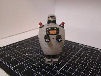 "Custom 3D printed 5"" scale Doctor Who action figure - Servo Robot - Dr. Who"