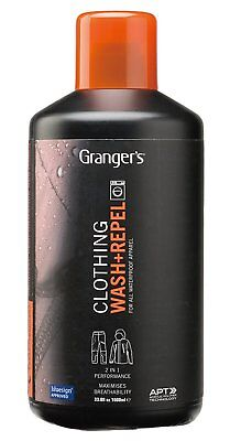 Grangers Clothing Wash + Repel For Outerwear / 1 ltr / Clean and waterproof in /