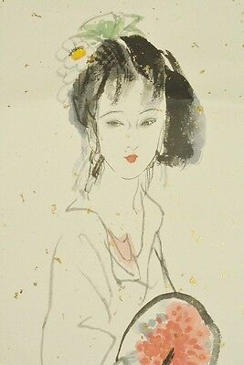 Hanging Scroll Chinese Painting Asian 李貴祥 China Beauty Li guixiang Picture b331