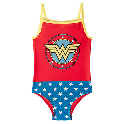 DC Comics Wonder Woman Supergirl Batman Official Gift Girls Swim Suit Costume