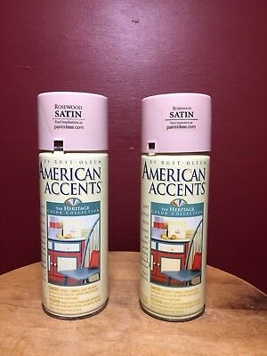 Rustoleum American Accesnts 1999 Rosewood Satin 3/4 Full Spray Paint cans x 2