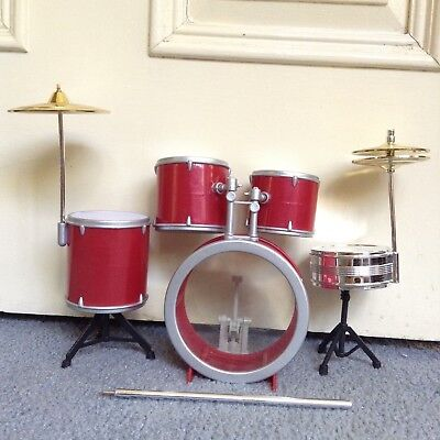 Barbie LIV Spin Master 1/6 One Sixth Scale Red Drum Kit Drums Plastic