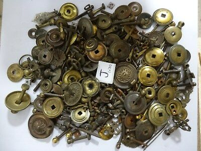 ( J ) Antique Brass Chest Drawer Handle Fixings bolts nuts Furniture Restoration