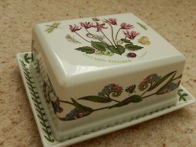 Portmerion Botanic Garden Cyclamen Butter Dish And Cover