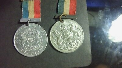 Old Medals  Commemorative  1911 George  5Th X2