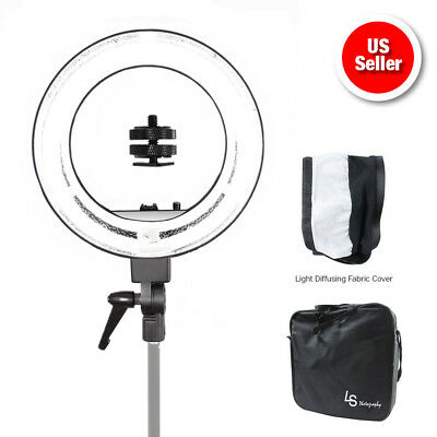 "18"" 5500K Fluorescent Dimmable Ring Light w/Bag Portrait Video Light Photography"