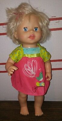 2007 Mattel Little Mommy Ah Choo Talking Sneezing Baby Doll 14""