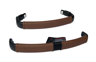 Bugaboo Buffalo Eco Leather handlebar and bumper bar cover set brown perforated
