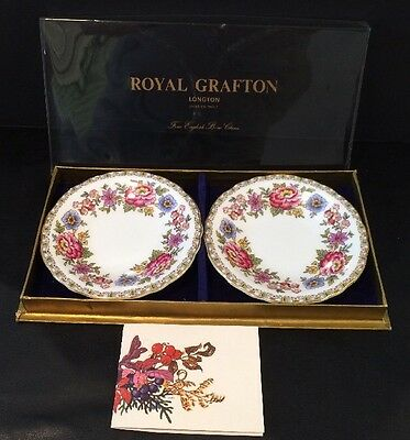 VTG S/2 Plates Royal Grafton Malvern Longton Stoke On Trent Fine China England