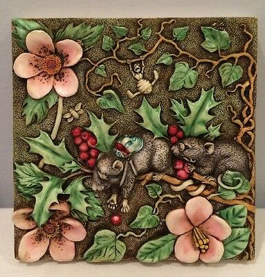 NIB Harmony Kingdom Picturesque Two Blind Mice PXGE1 Tile Byron's Secret Garden