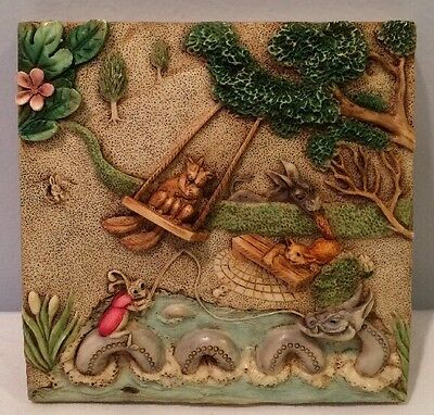 NIB Harmony Kingdom Picturesque Swing Time PXGB2 Tile Byron's Secret Garden NOS