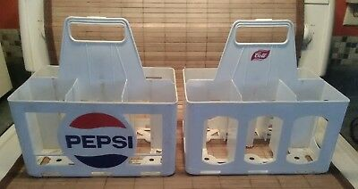 Pepsi-cola and Cott Vintage Plastic Crates, pre-owned