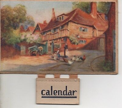 1944 - CALENDAR with a Beautiful Hard Card and Hanger