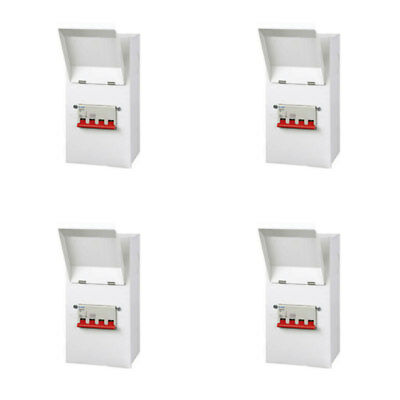 4 x Live MSE100 Metal Isolator Switches TP&N (4 Pole) 100 Amp Three Phase
