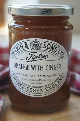 **WILKIN & SONS LTD** Tiptree Orange & Ginger Medium Cut Marmalade 340g Jar X 2