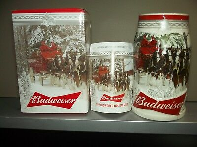 2017 Budweiser 38th anniversary  Holiday Stein
