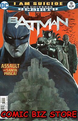 Batman #10 (2016) 1St Printing Dc Universe Rebirth Bagged & Boarded