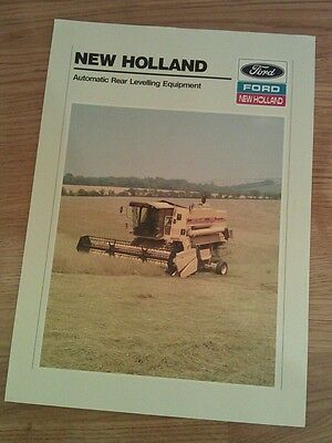 Ford New Holland combine leaflet.. Self leveling kit.