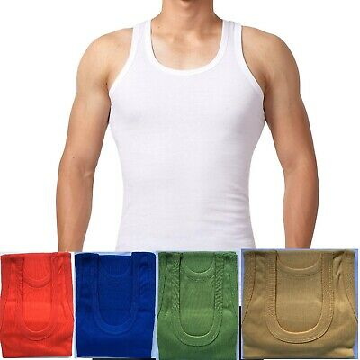 SOFTY® Mens vest white sleeveless Thermal underwear ribbed rib winter interlock