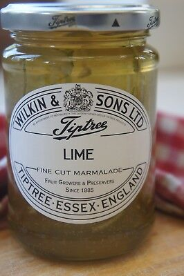 **WILKIN & SONS LTD** Tiptree Lime Fine Cut Peel Marmalade 340g Jar