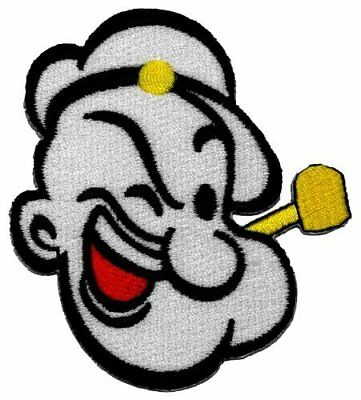 Popeye Cartoon Felt and Embroidered Iron On Patch