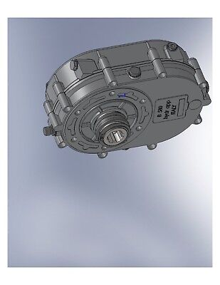 """Gearbox Pto Sae""""bb""""15T Out 5:1 Ration 1 3/8-6 Female Shaft"""