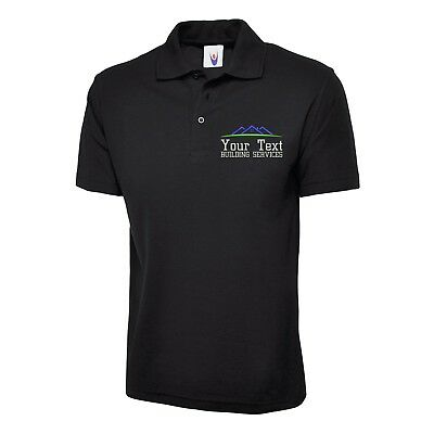 Personalised Embroidered Builder polo shirt, Building services Workwear Uniform