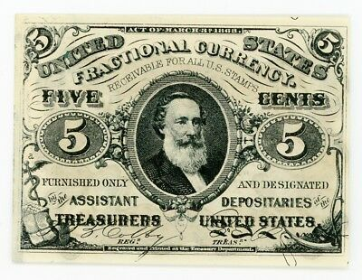 Fractional Currency FR1239 3rd Issue 5c UNC Crisp Note #2