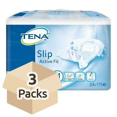 TENA Slip Active Fit Maxi (PE Backed) - Medium - Case - 3 Packs of 24