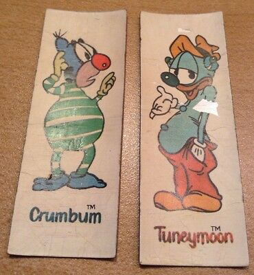 *Rare* Vintage 70's Ralstons Moonstones Cereal Prize 2 Magnets Tuneymoon Crumbum