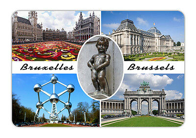 "Belgium Bruxelles brussel Souvenir Travel Photo Fridge Magnet Big size 3.5""X2.4"""