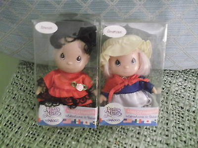 "4 1/2"" Hi Babies Precious Moments - Spanish & American International dolls boxed"