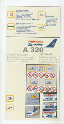 EGYPT AIR    Airbus  A 320    Safety Card