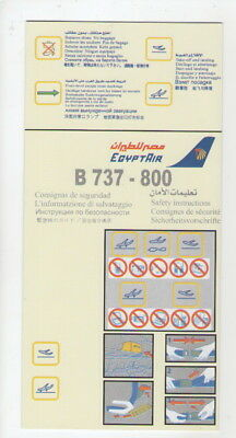 EGYPT AIR    Boeing 737-800    Safety Card