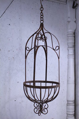 Wrought Iron Victorian Hanging Basket Decorative Planter