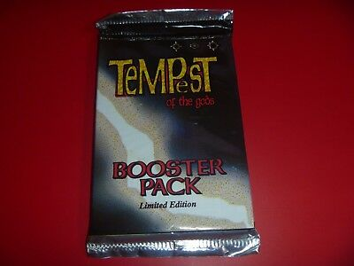 Sealed Tempest Of The Gods - Limited Edition Booster Pack - 1995