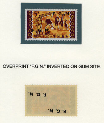 "Nigeria 1968 Mnh ***overprinted 'f.g.n.'*** And Inverted On Gum Site ""scarse"""