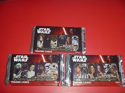 3 Different Variation Star Wars Journey To The Force Awakens Uk Promo Packs