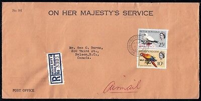 British Honduras - June 1964 Registered Cover to Canada