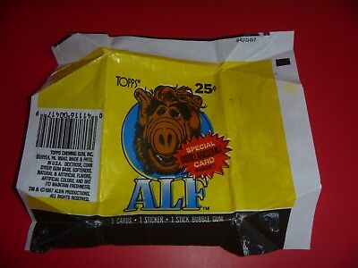 Alf Series 1 - Topps Wax Wrapper 1987 - Wrapper Only No Cards