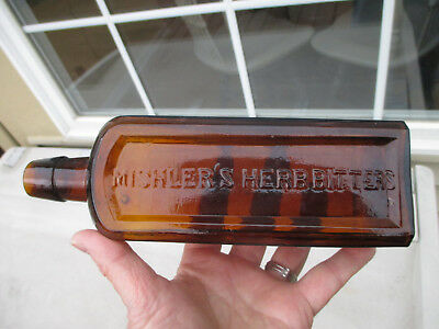 Applied Top Dr Hartman & Co Mishler's Herb Bitters Tons Of Embossing Nice One!