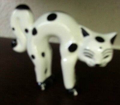 Lorna Bailey Large POLKA cat white with black spots Excellent Condition FREE P&P