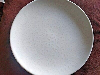 RAINDROP White Russel Wright by Iroquois Crystalline Glaze Plate 1940s